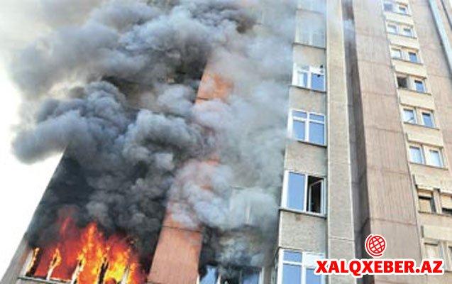 Bakıda bina YANDI - ÖLƏN VAR
