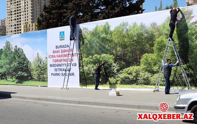 """""""Ovçular evi""""nin yerində park salınır - FOTOLAR"""