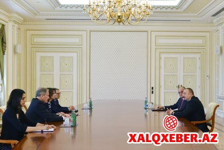 Prezident İlham Əliyev ABŞ dövlət katibinin köməkçisinin müavinini qəbul edib