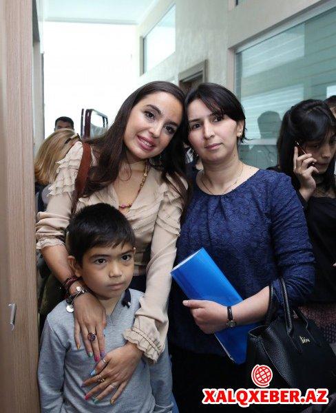 Leyla Əliyeva Talassemiya Mərkəzində olub-FOTOLAR