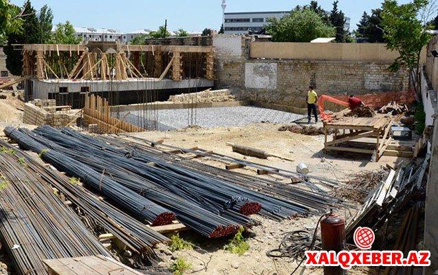 Hacı Cavad məscidinin tikintisindən - Fotolar