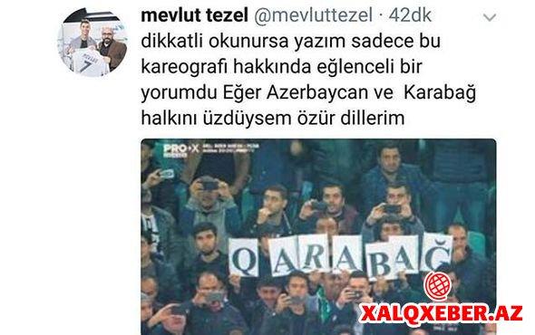 """""""Qarabağ""""ı təhqir edən müəllif üzr istədi"""