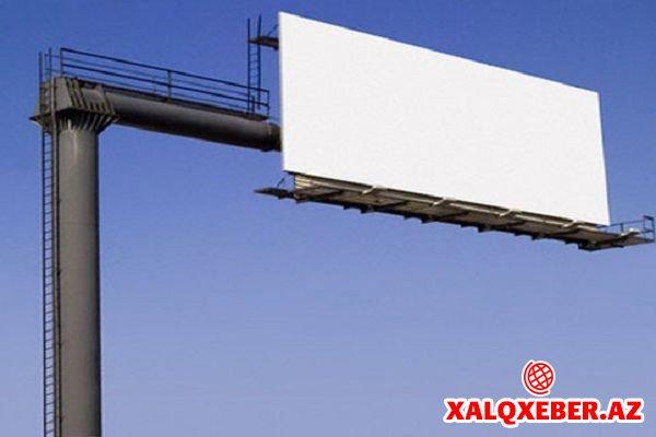 Küçələrdə yerləşdirilən reklam üçün ödəniş qaydaları dəyişdirilir