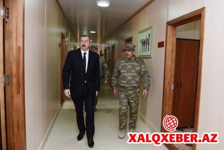 """Prezident İlham Əliyev """"N"""" saylı hərbi hissədə - FOTOLAR"""