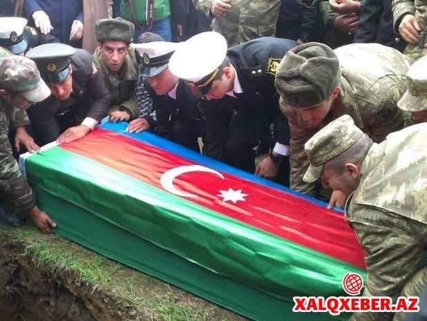 Şəhid olan hərbi qulluqçu dəfn edildi