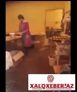 Bakxanovda mundarxana sex:görün bizə nə yedizdirirlər-VİDEO