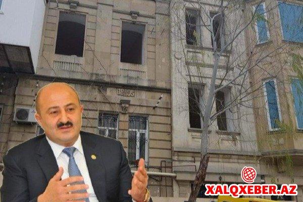 Nəsimi rayon icra başçısı tarixi binanı SÖKDÜRÜR (FOTO)