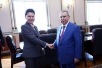 Ramiz Mehdiyev Rusiya Elmlər Akademiyasının vitse-prezidenti ilə görüşüb