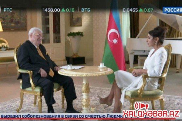 """""""Rossiya 24""""Mehriban Əliyevanın müsahibəsini yayımladı - FOTO"""