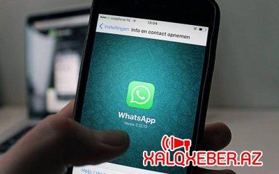 """Milyonlarla istifadəçi """"WhatsApp""""dan istifadə edə bilməyəcək"""