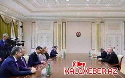 Prezident İlham Əliyev Türkiyənin Ticarət nazirini qəbul edib