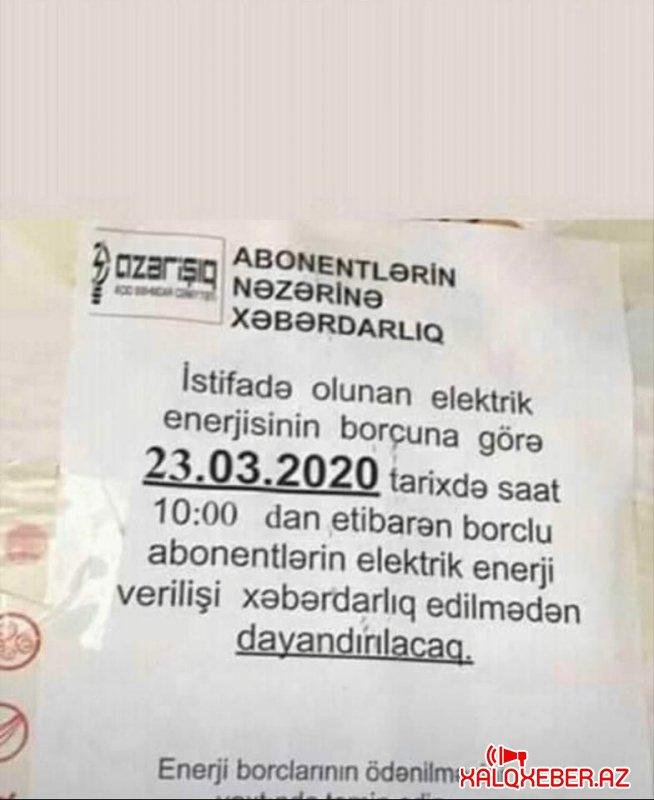 """""""Azərişıq"""" koronovirusdan sui-istifadə etdi - FOTOFAKT"""