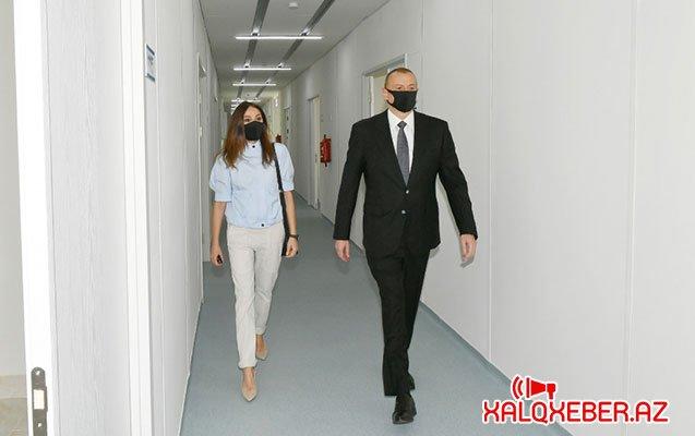İlham Əliyev və xanımı açılışda - Fotolar