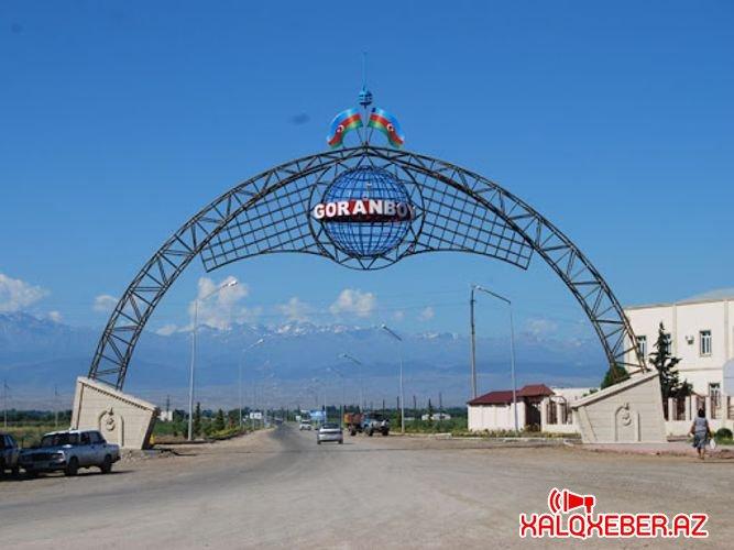 Goranboyda icra hakimiyyətinin binasına yürüş - VİDEO
