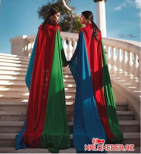 Sevil-Sevinc bacıları bayrağı yerlə sürüdülər - FOTO