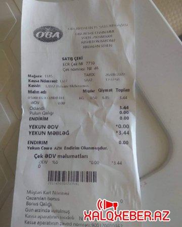 """""""OBA"""" market müştəriləri belə aldadır"""