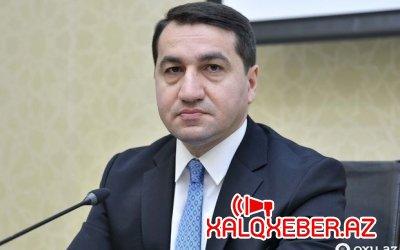 """Hikmət Hacıyev Gəncədə Ermənistanın terroru ilə bağlı """"Euronews""""a danışdı"""