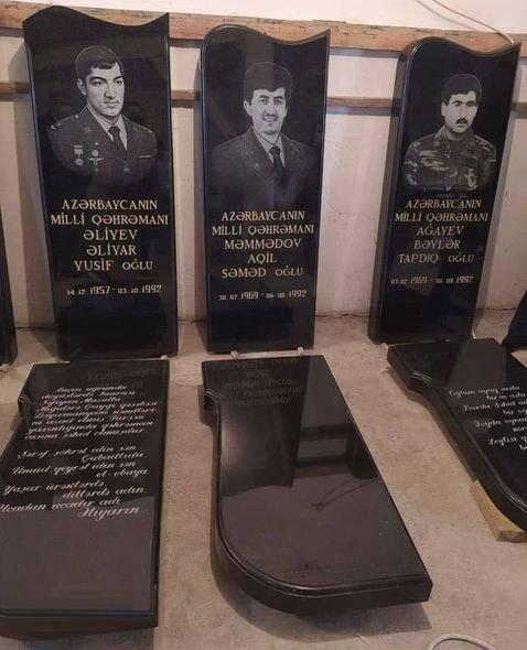 Əliyar Əliyevin məzar daşı hazırlandı (FOTO)