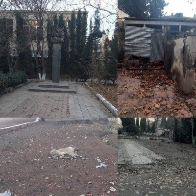 Gəncədə xaraba günə qalan Rəsulzadə parkı... -  BUNU DA ERMƏNİLƏRMİ BU GÜNƏ QOYUB... /FOTO