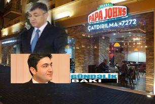 """Gömrük monopolisti """"Broker Əbülfəz""""in oğlunun PAPA JOHN'S-u - FOTOLAR"""