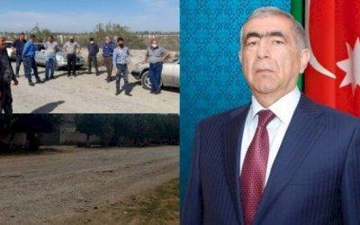 Saleh Məmmədov Qazyan sakinlərini yolsuz qoydu - Şikayət, Fotolar