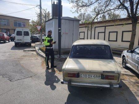 İsmayıllıda yol polisi reyd keçirib